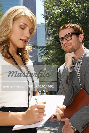 Businessman and Businesswoman Stock Photo - Premium Royalty-Free, Image code: 600-01614691