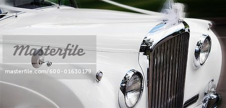 Close-up of Car Decorated For Wedding Stock Photo - Premium Royalty-Free, Image code: 600-01630179