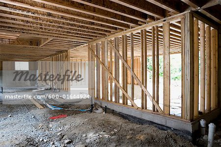 Framed Walls at Construction Site Stock Photo - Premium Royalty-Free, Image code: 600-01644924