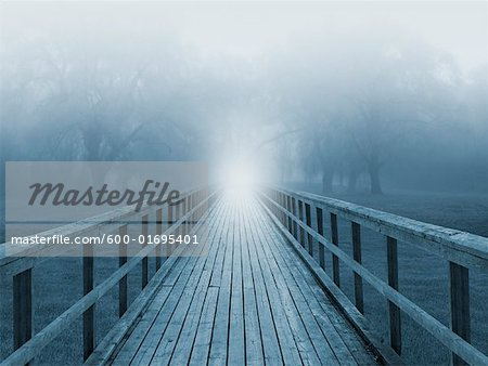 Light at the End of a Bridge Stock Photo - Premium Royalty-Free, Image code: 600-01695401
