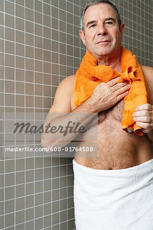 Portrait of Man in Bathroom Stock Photo - Premium Royalty-Free, Image code: 600-01764508