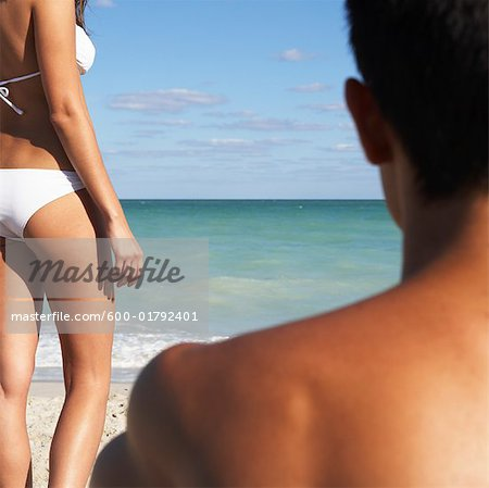 Couple on the Beach Stock Photo - Premium Royalty-Free, Image code: 600-01792401