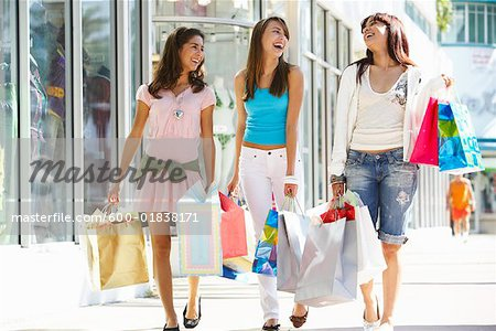 Girls with Shopping Bags - Stock Photo - Masterfile - Premium ...