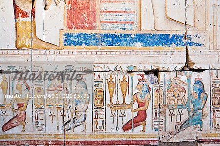 Hieroglyphics in Temple of Seti I Abydos, Egypt Stock Photo - Premium Royalty-Free, Image code: 600-02033791