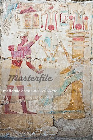 Hieroglyphics in Temple of Seti I Abydos, Egypt Stock Photo - Premium Royalty-Free, Image code: 600-02033792