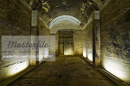 Temple of Seti I, Abydos, Egypt Stock Photo - Premium Royalty-Free, Image code: 600-02033797