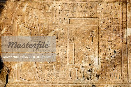 Hieroglyphics at the Egyptian Museum, Cairo, Egypt Stock Photo - Premium Royalty-Free, Image code: 600-02033819