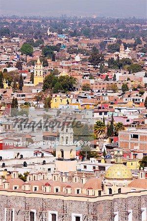 Skyline of Cholula, Mexico