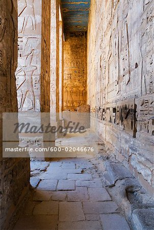 Medinet Habu Temple, West Bank, Luxor, Egypt Stock Photo - Premium Royalty-Free, Image code: 600-02046676
