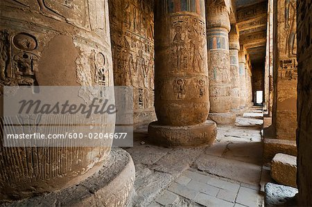 Medinet Habu Temple, West Bank, Luxor, Egypt Stock Photo - Premium Royalty-Free, Image code: 600-02046677
