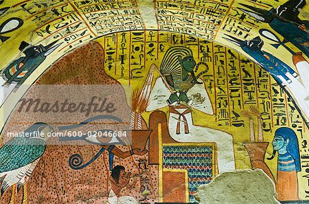 Osiris, Tomb of Pashedu, Deir Al-Medina, West Bank, Luxor, Egypt Stock Photo - Premium Royalty-Free, Image code: 600-02046684