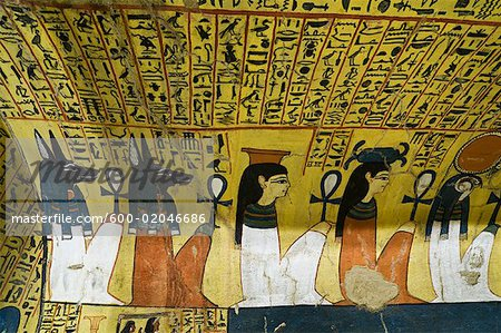 Procession of Gods, Tomb of Pashedu, Deir Al-Medina, west Bank, Luxor, Egypt Stock Photo - Premium Royalty-Free, Image code: 600-02046686