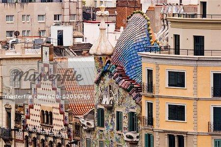 Exterior of Building, Casa Batllo, Barcelona, Catalunya, Spain