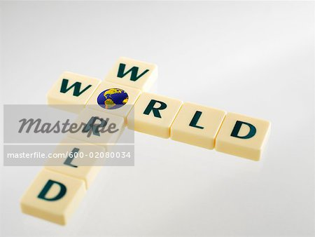 Word Tiles Spelling the Word World Stock Photo - Premium Royalty-Free, Image code: 600-02080034