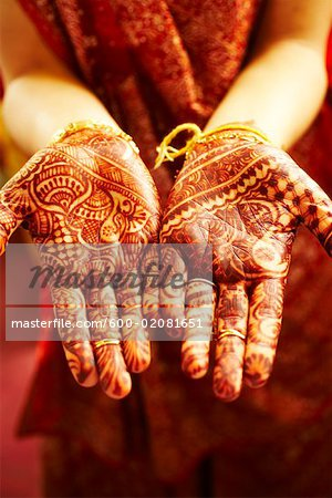 Henna Designs on Hands Stock Photo - Premium Royalty-Free, Image code: 600-02081651
