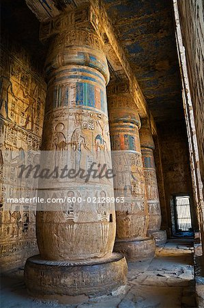 Madinat Habu Temple, West Bank, Luxor, Egypt Stock Photo - Premium Royalty-Free, Image code: 600-02128963