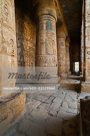 Madinat Habu Temple, West Bank, Egypt Stock Photo - Premium Royalty-Free, Image code: 600-02128964