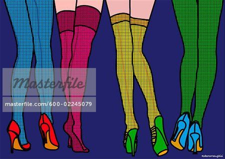 Illustration of Women's Stockings Stock Photo - Premium Royalty-Free, Image code: 600-02245079