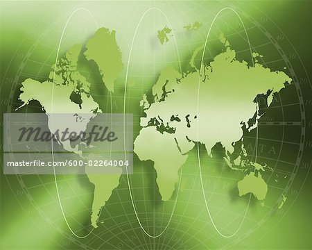 World Map Stock Photo - Premium Royalty-Free, Image code: 600-02264004