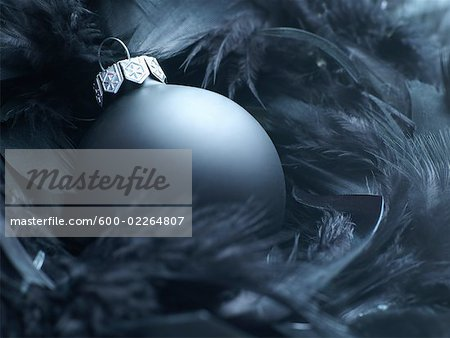 Christmas Ornament in Feathers Stock Photo - Premium Royalty-Free, Image code: 600-02264807