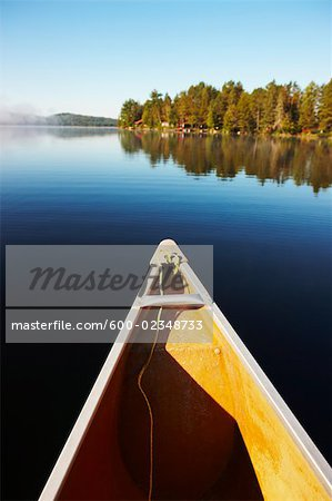 Canoe on Lake of Two Rivers, Algonquin Park, Ontario, Canada Stock Photo - Premium Royalty-Free, Image code: 600-02348733