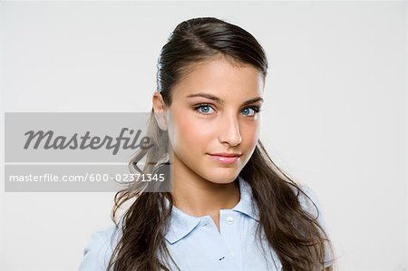 Portrait of Woman Stock Photo - Premium Royalty-Free, Image code: 600-02371345