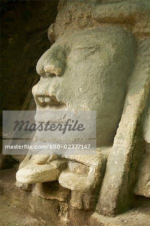 Carvings in Ruins, Lamanai, Belize Stock Photo - Premium Royalty-Free, Image code: 600-02377147