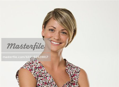 Portrait of Woman Stock Photo - Premium Royalty-Free, Image code: 600-02428817