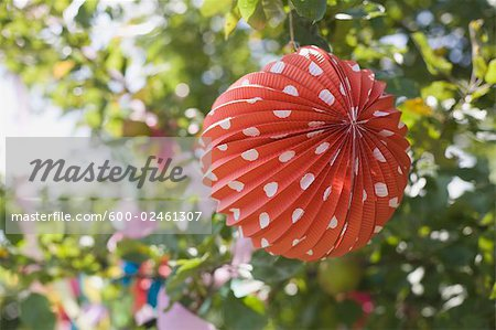 Paper Lantern Decorations at Birthday Party Stock Photo - Premium Royalty-Free, Image code: 600-02461307