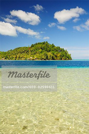 Overview of Bay, Huahine, French Polynesia Stock Photo - Premium Royalty-Free, Image code: 600-02590611