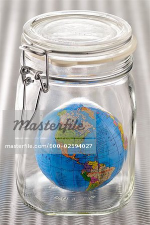 Earth Trapped in a Jar Stock Photo - Premium Royalty-Free, Image code: 600-02594027