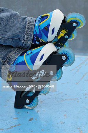 Close-Up of Roller Blades Stock Photo - Premium Royalty-Free, Image code: 600-02659568