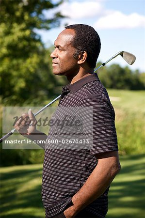 Portrait of Golfer, Burlington, Ontario, Canada