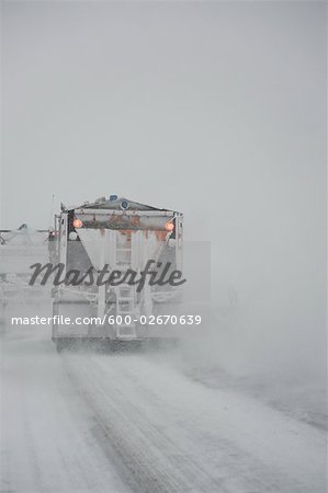 Snowplow on Highway, Ontario, Canada Stock Photo - Premium Royalty-Free, Image code: 600-02670639