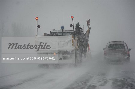 Snowplow on Highway, Ontario, Canada Stock Photo - Premium Royalty-Free, Image code: 600-02670641