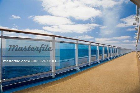 Cruise Ship Deck and Railing    Stock Photo - Premium Royalty-Free, Artist: John Gertz, Code: 600-02671101