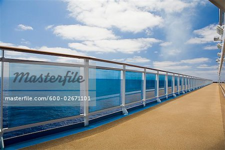 Cruise Ship Deck and Railing