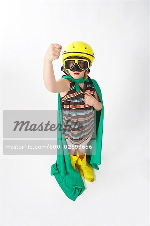 Girl Dressed in Costume Stock Photo - Premium Royalty-Free, Image code: 600-02693656