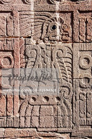 Carving in Quetzalpapalotl Palace, Teotihuacan Archaeological Site, Mexico Stock Photo - Premium Royalty-Free, Image code: 600-02694318