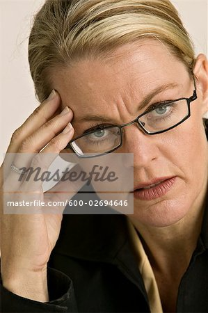 Close-up of Businesswoman Stock Photo - Premium Royalty-Free, Image code: 600-02694646