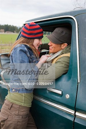 Young Couple on a Farm in Hillsboro, Oregon, USA Stock Photo - Premium Royalty-Free, Image code: 600-02700697