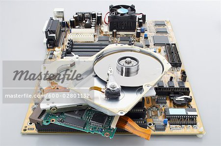 Computer Parts Stock Photo - Premium Royalty-Free, Image code: 600-02801132