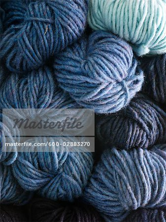 Hand Spun Balls of Wool Stock Photo - Premium Royalty-Free, Image code: 600-02883270