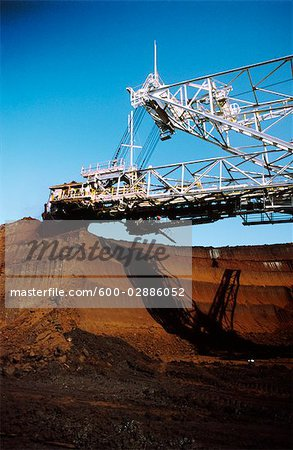 Brown Coal Mining, Bucket Excavator, LaTrobe Valley, Australia Stock Photo - Premium Royalty-Free, Image code: 600-02886052