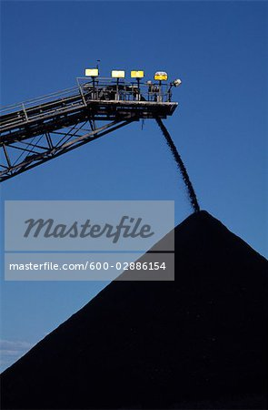 Black Coal Mining, Stockpiling Coal Stock Photo - Premium Royalty-Free, Image code: 600-02886154
