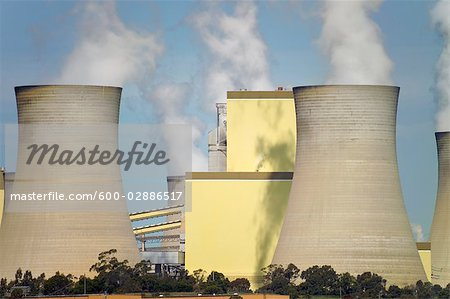 Brown Coal Coal Power Station, La Trobe Valley, Australia Stock Photo - Premium Royalty-Free, Image code: 600-02886517