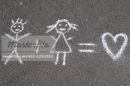 Chalk Drawing Stock Photo - Premium Royalty-Free, Image code: 600-02912552