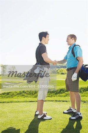 Men at Golf Course                                                                                                                                                                                       Stock Photo - Premium Royalty-Free, Artist: Hiep Vu, Code: 600-02935461