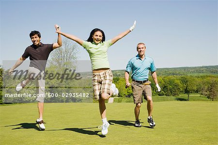 People at Golf Course Stock Photo - Premium Royalty-Free, Image code: 600-02935482