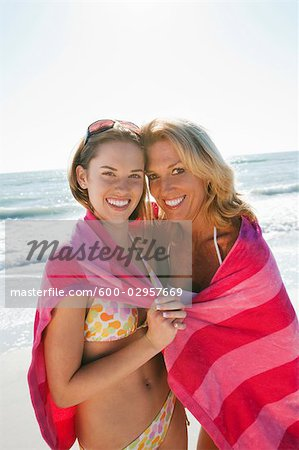 Mother and Daughter on Beach, Florida, USA Stock Photo - Premium Royalty-Free, Image code: 600-02957669